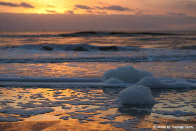 Sunset at the beach Amrum