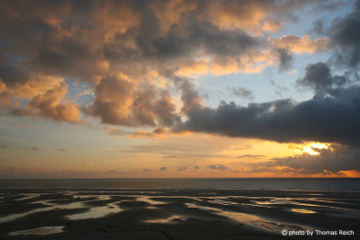 Evening sky Amrum island
