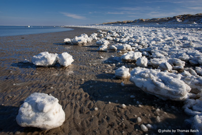 Ice floes at the beach