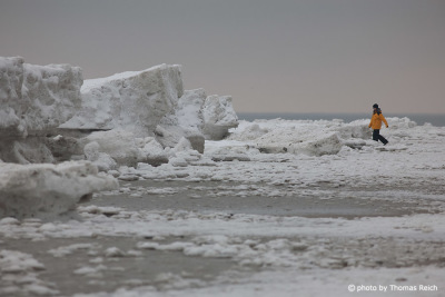 Ice floes at the beach Amrum