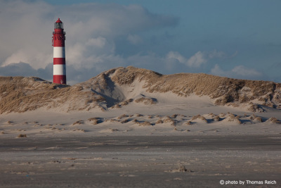 Red and white Ligthhouse, Amrum