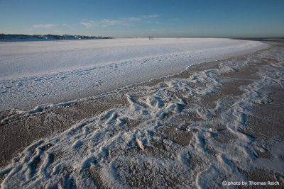 Beach in winter time Amrum