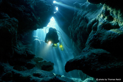 Cave diving in the Red Sea, Egypt