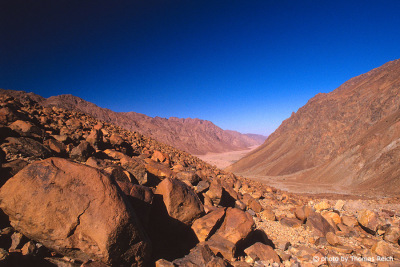 Big wadi in Sinai mountains
