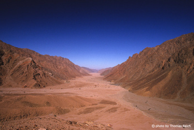 Sinai mountain and big dry valley