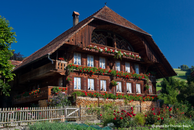 Typical swiss house in Bernese Oberland
