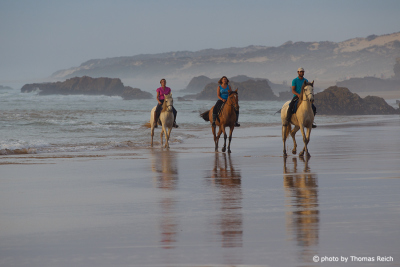 Horseback riding at the beach in Portugal