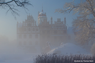 Schloss Basedow Wintermorgen