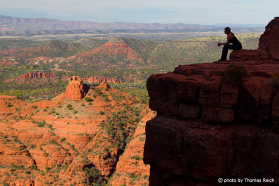 Wander Rast beim Cathedral Rock, Sedona, USA