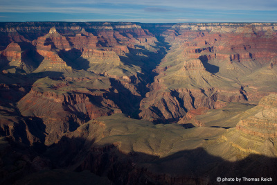 Grand Canyon in the evening light