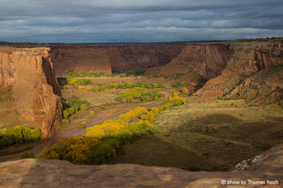 Canyon de Chelly in the evening light