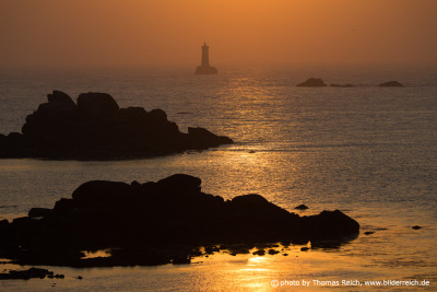 Lighthouse Phare du Chenal du Four, Brittany