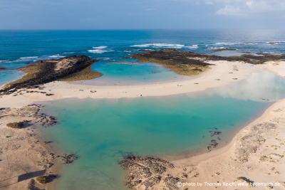 Playa de la Concha Fuerteventura from above