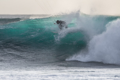 Big Wave Kite-Surfer El Cotillo