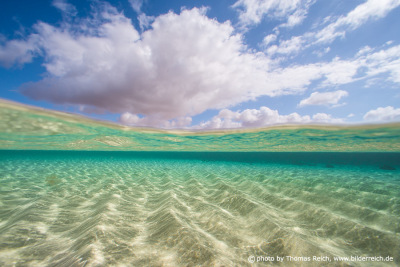 Beach under water view
