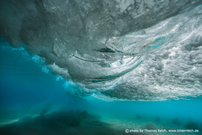 Waves underwater